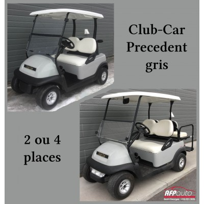 Club-Car Precedent Gris 2 ou 4 places